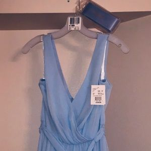 NWT ICE BLUE BRIDES MAIDE DRESS WITH SASH
